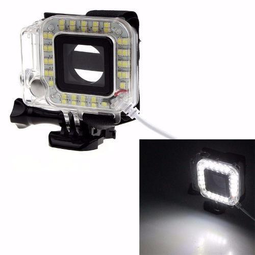 Anel LED Iluminação Luz Gopro