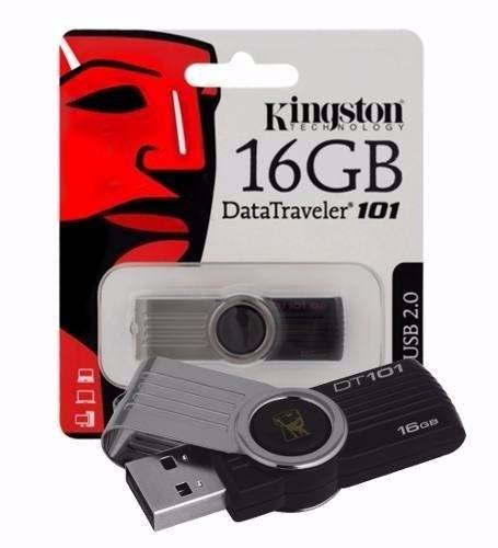 Pen Drive Kingston 16gb Dt 101 Lacrado 100% Original
