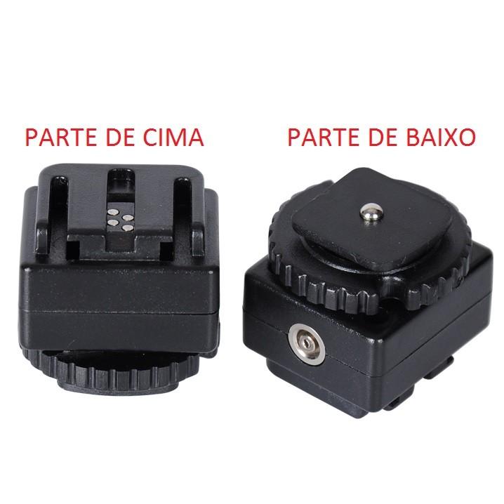 Adaptador C-S1 Conversor Usar Flash Sony em Câmeras Canon ou Nikon