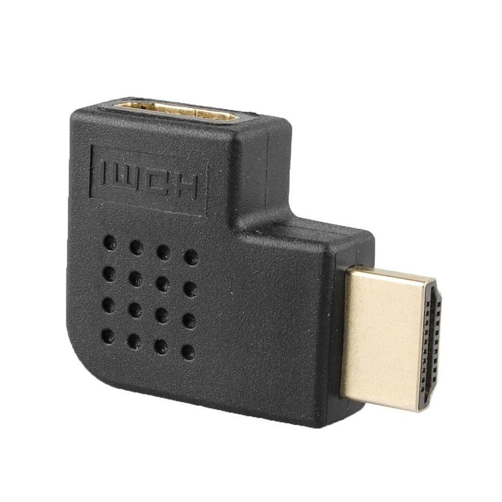 Adaptador HDMI em L macho-fêmea Direita