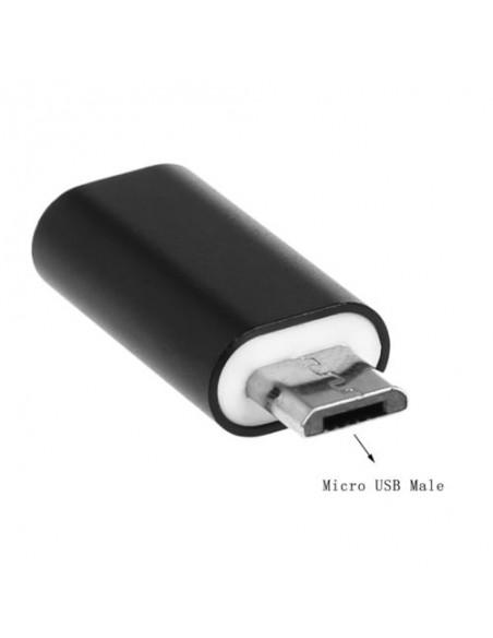 Adaptador OTG Lightning Fêmea X USB Micro V8 Macho