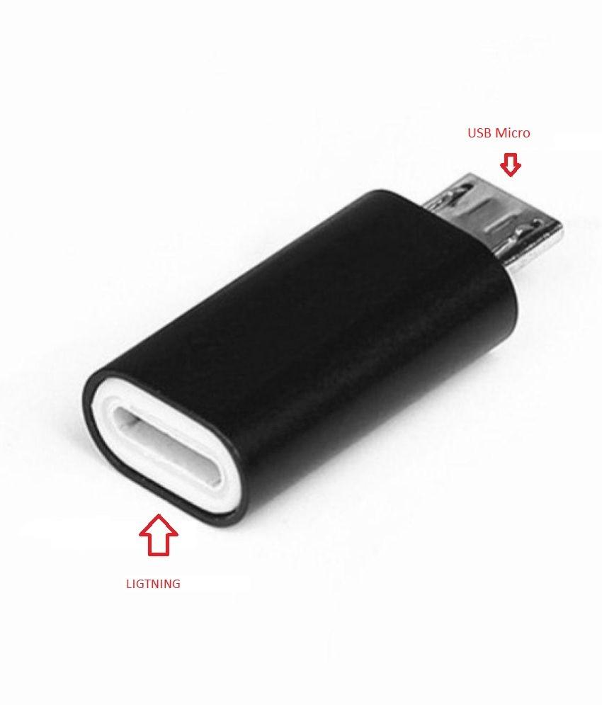 Adaptador USB Ligtning Fêmea para USB Micro Macho