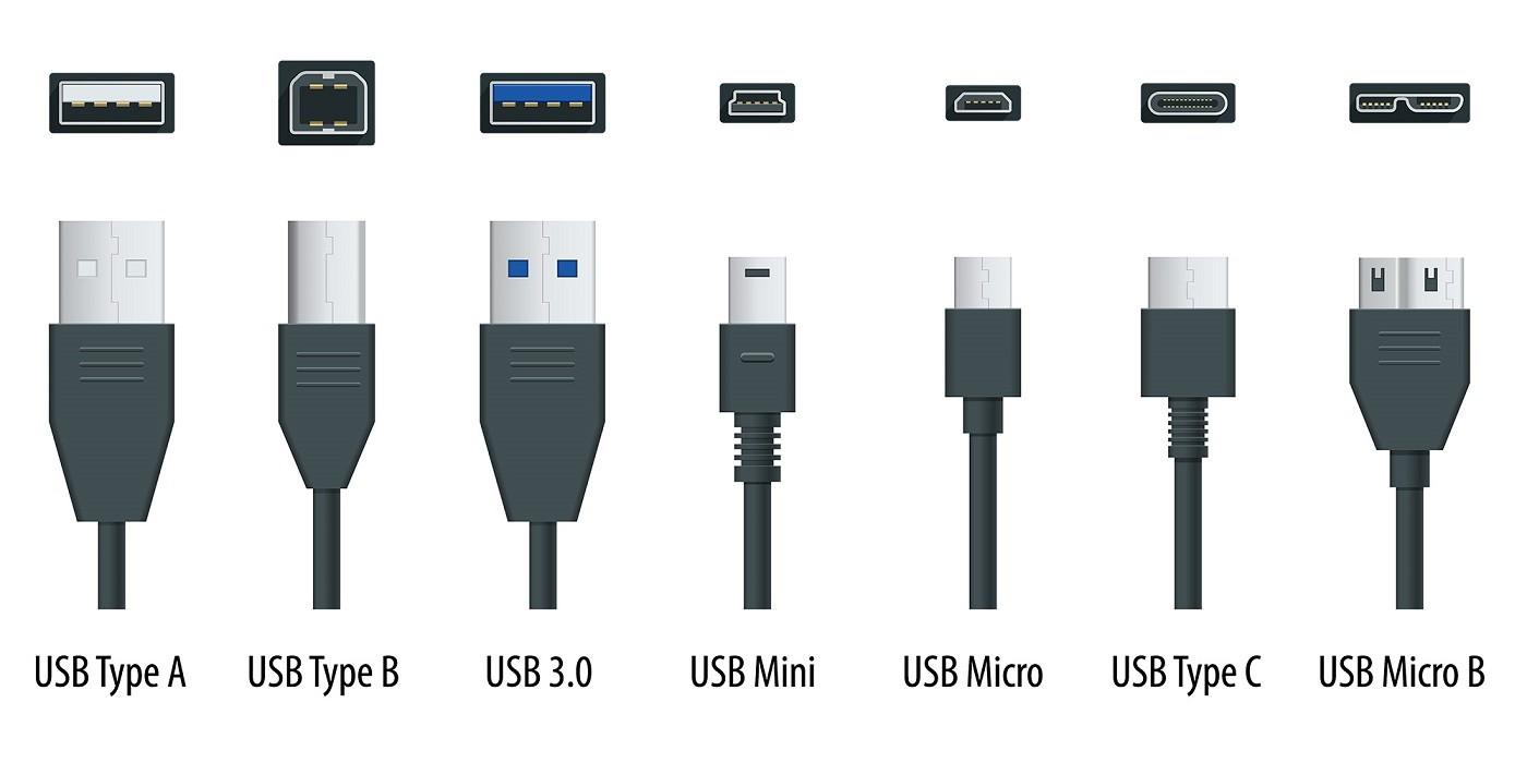 Adaptador USB Type (tipo) A Fêmea x Mini Macho (V8)