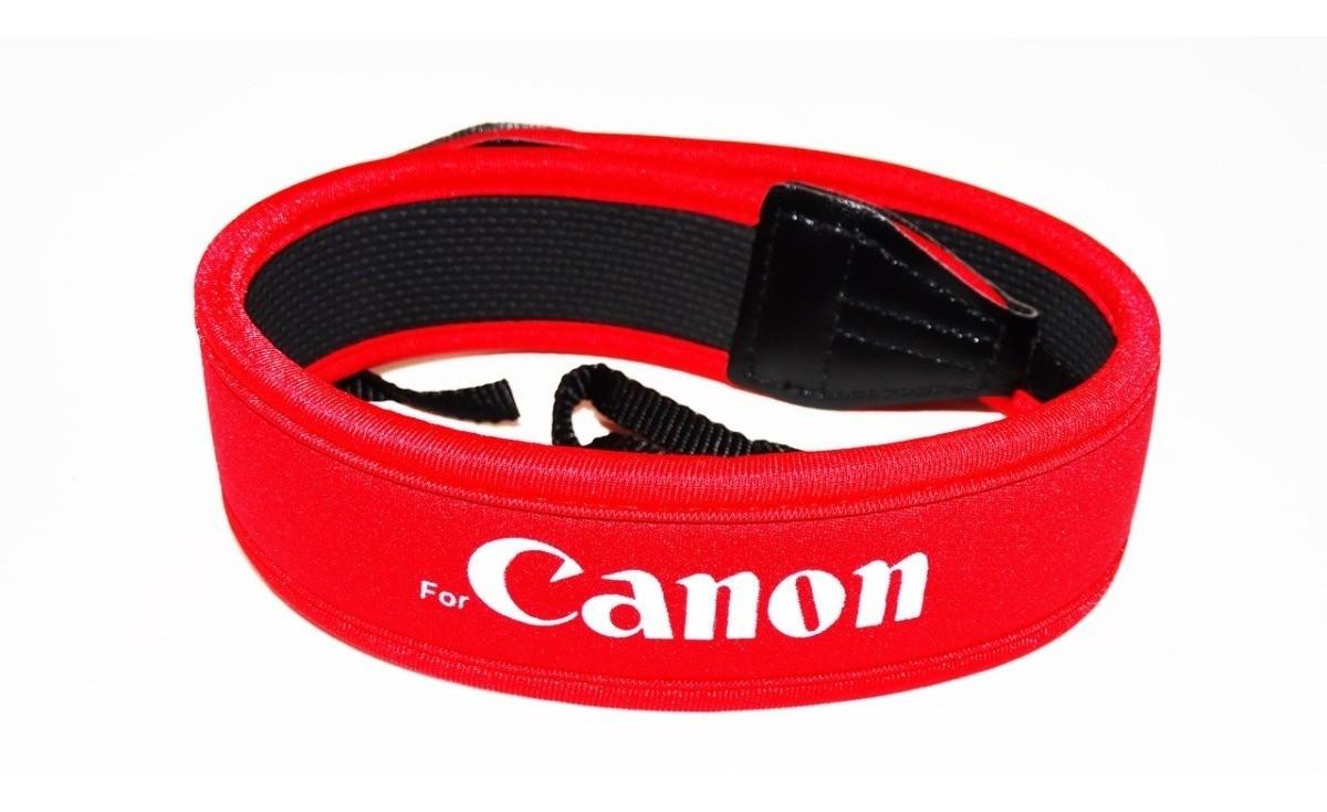 Alça Pescoço Neoprene Câmeras Fotográficas Correia Canon vermelha