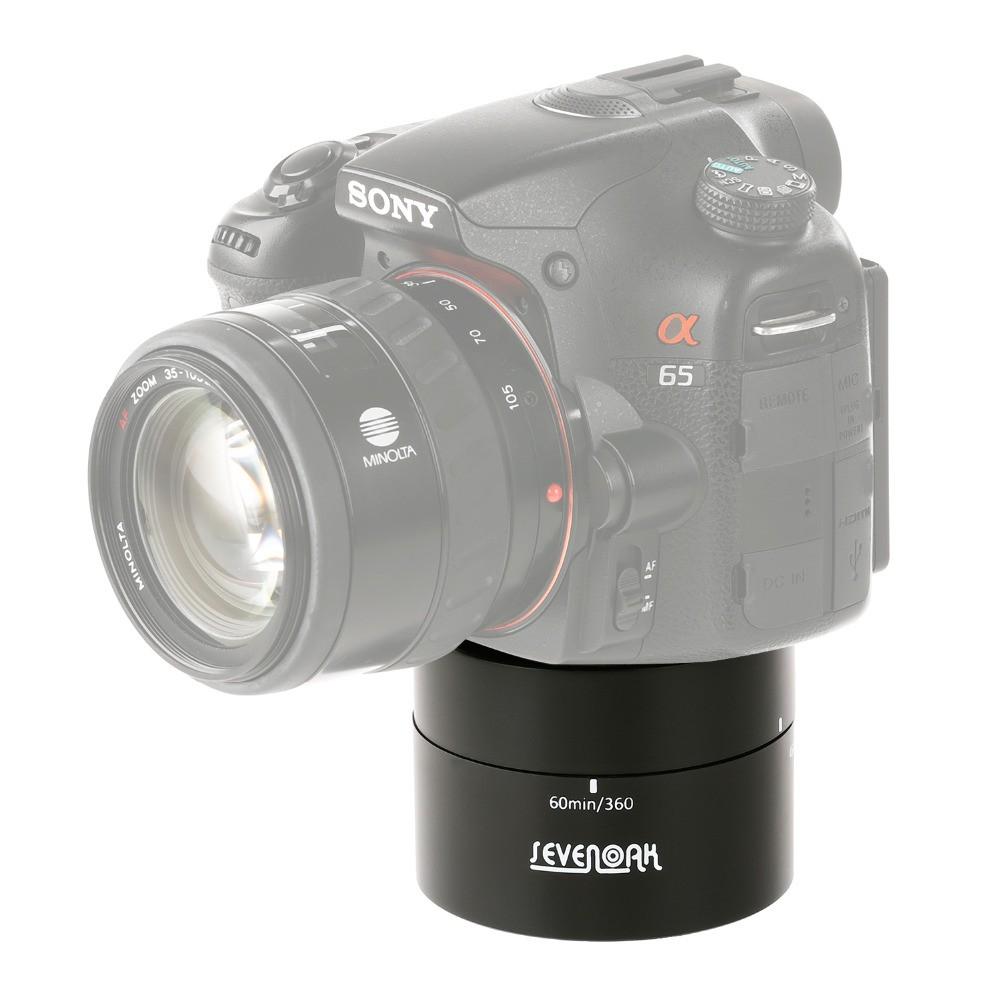 Base Rotação 360º Time Lapse 60 Minutos Foto Panoramicas e Vídeos Gopro, Celular ou Câmeras