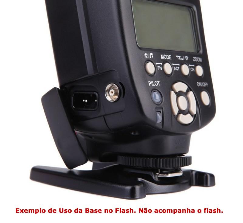 Base Suporte Stand Pezinho para Flash em Pé Mesa Hot Shoe Sapata