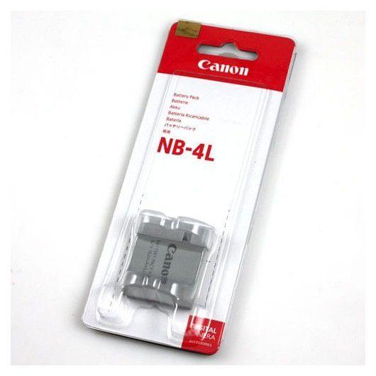 Bateria Canon NB-4L Compatibilidade:  Power Shot SD30, 40, 200, 300, 400, 430, 450, 600, 630, 750, 780, 960, 1000, 1100 e TX1