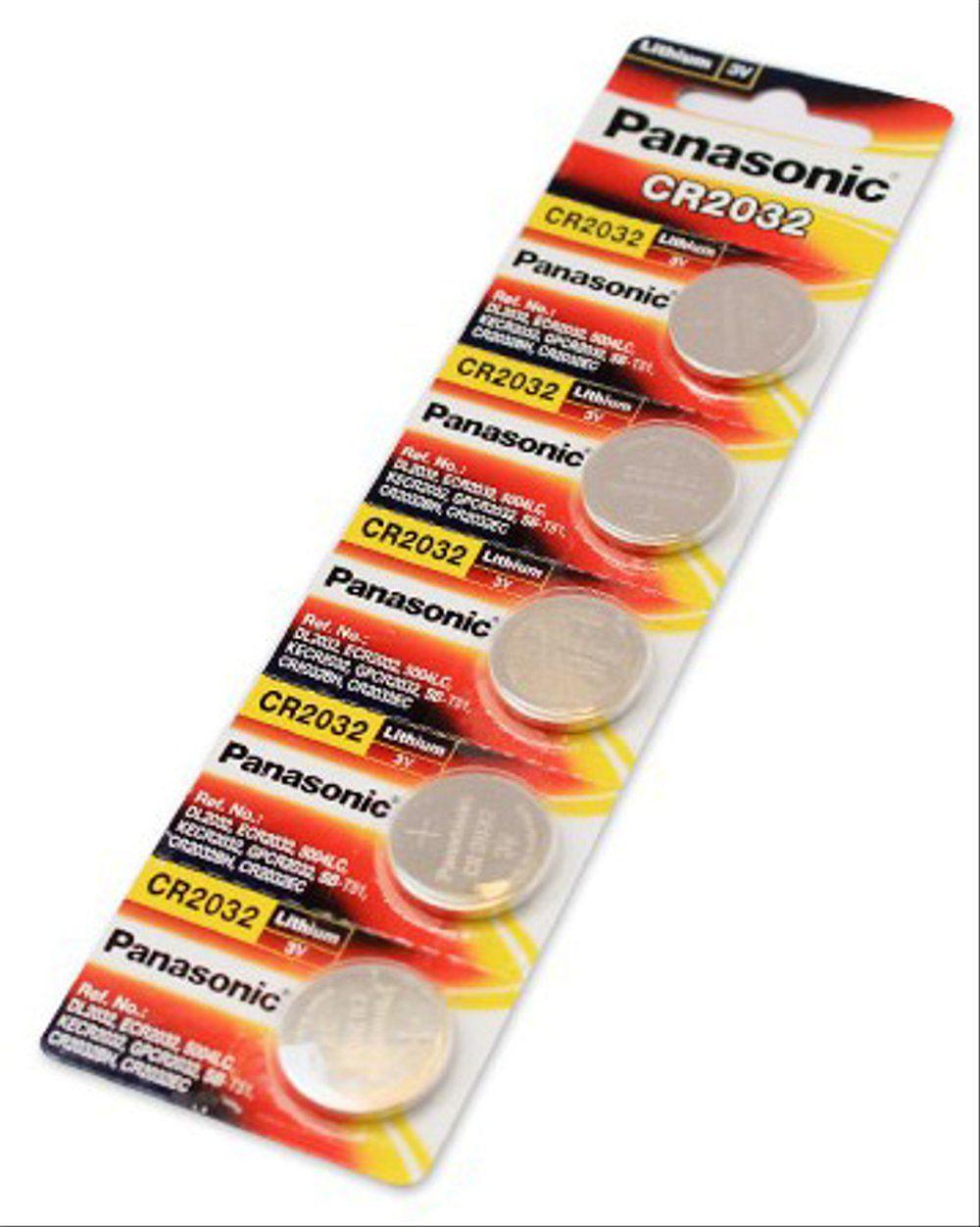 Bateria Panasonic Cr2032 Lithium 3v Cartela Com 5 Unidades