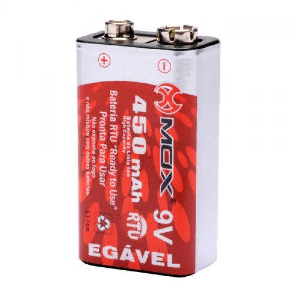 Bateria Recarregável 9v Mox Mo-9v450 Original