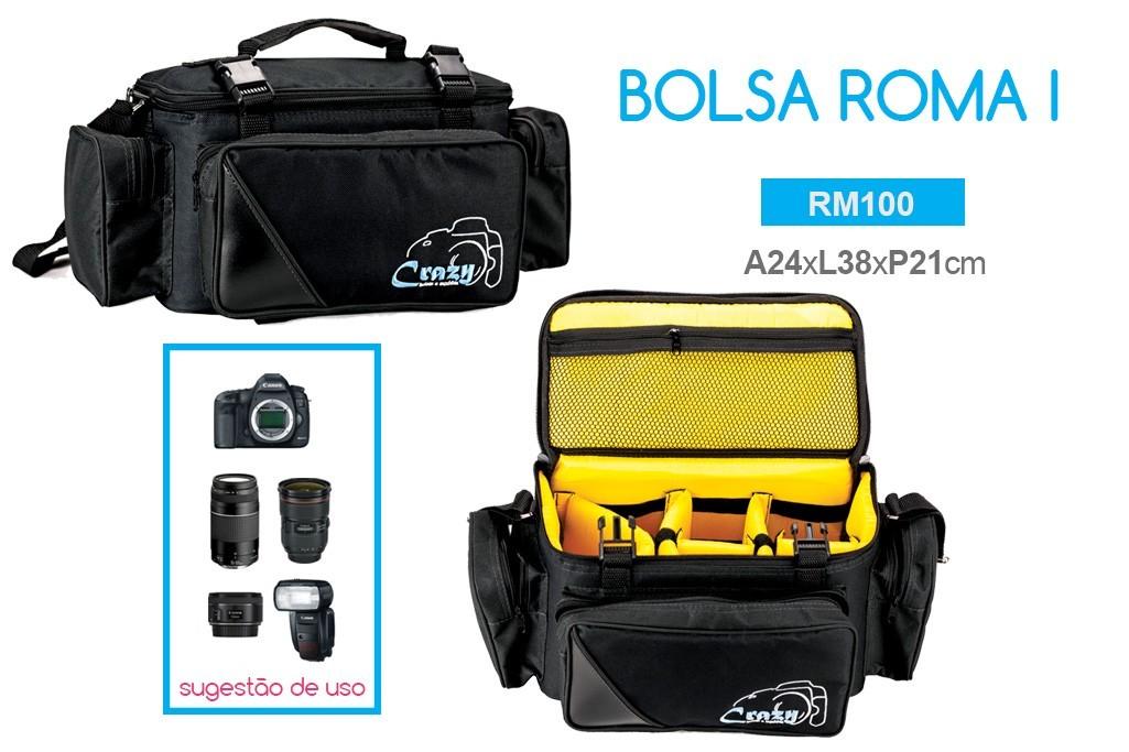 Bolsa de Mão Maleta para Fotografia Crazy Roma Profissional