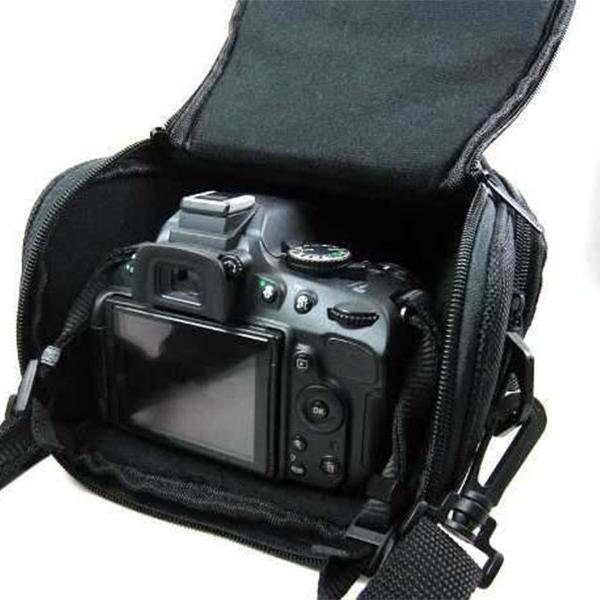 Bolsa para Câmeras Fotográficas Marca Estilizada Escolha entre Canon, Nikon ou Sony