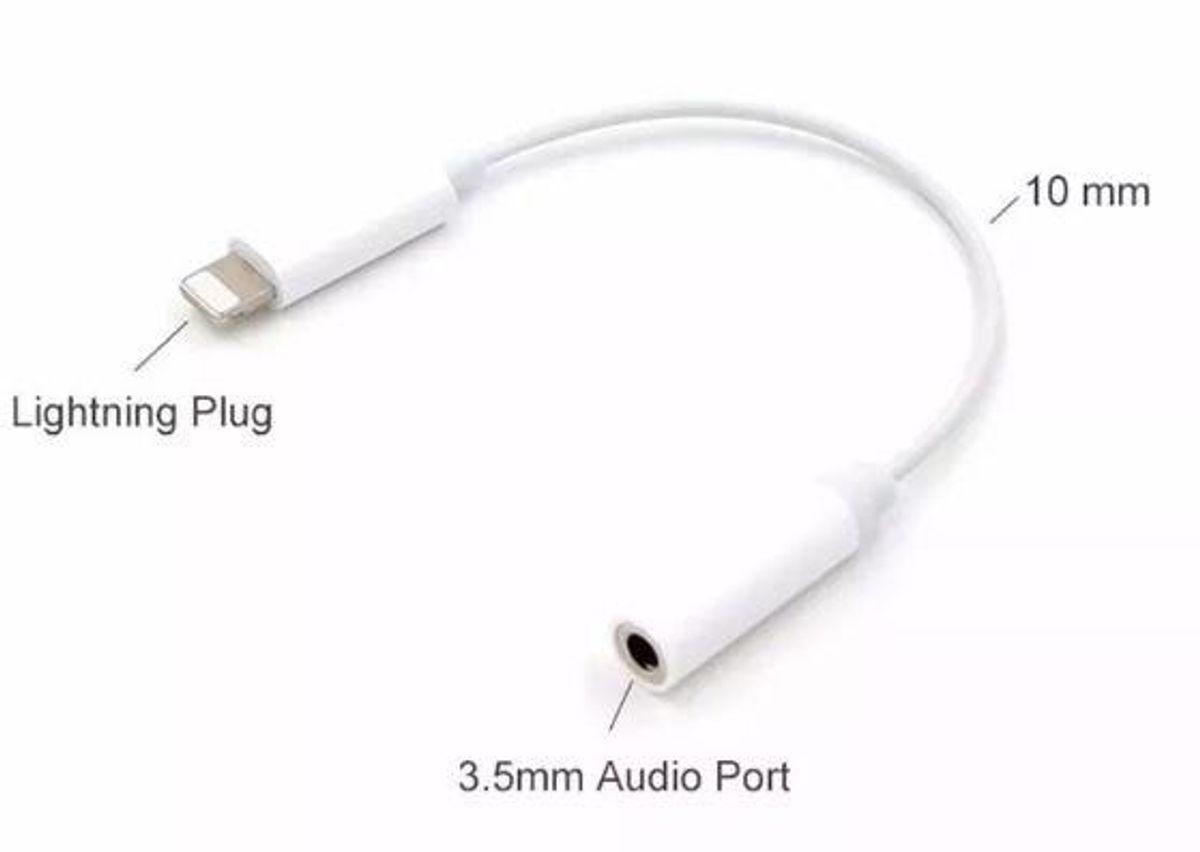 Cabo Adaptador de Lightning p/ Conector de Fones de Ouvido 3.5mm