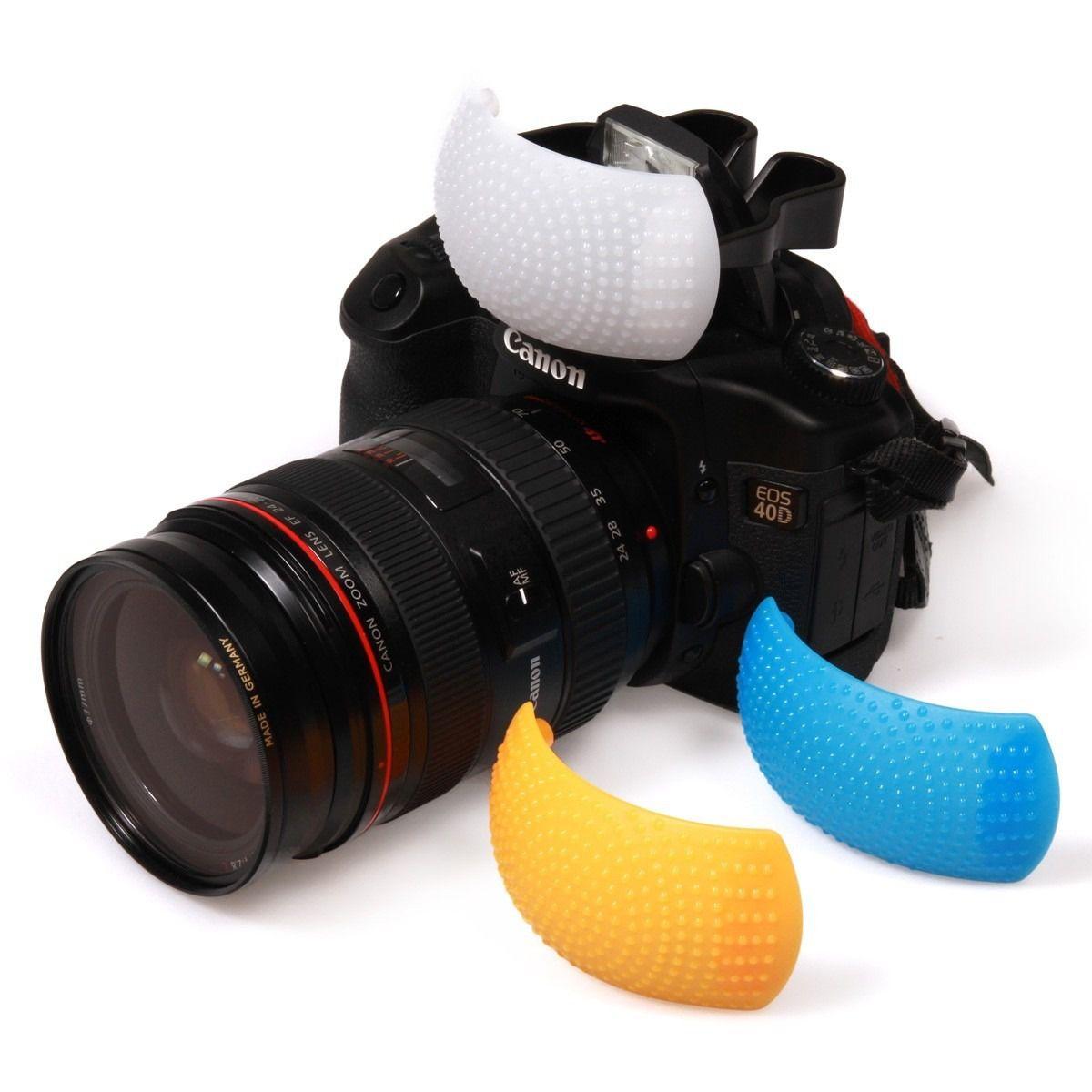 Difusor Para Flash Colorido Pop Up Kit Com 3
