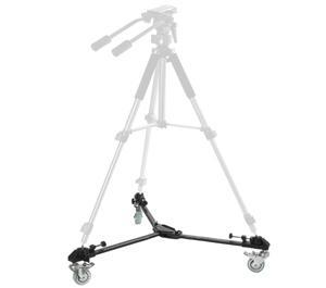 Dolly Portátil para Tripé Vivitar VPT350 Base em metal para tripés com rodas, ou rodízios