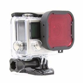 GoPro Hero 3+ 4 Filtro De Luz Mergulho Red Dive Filter