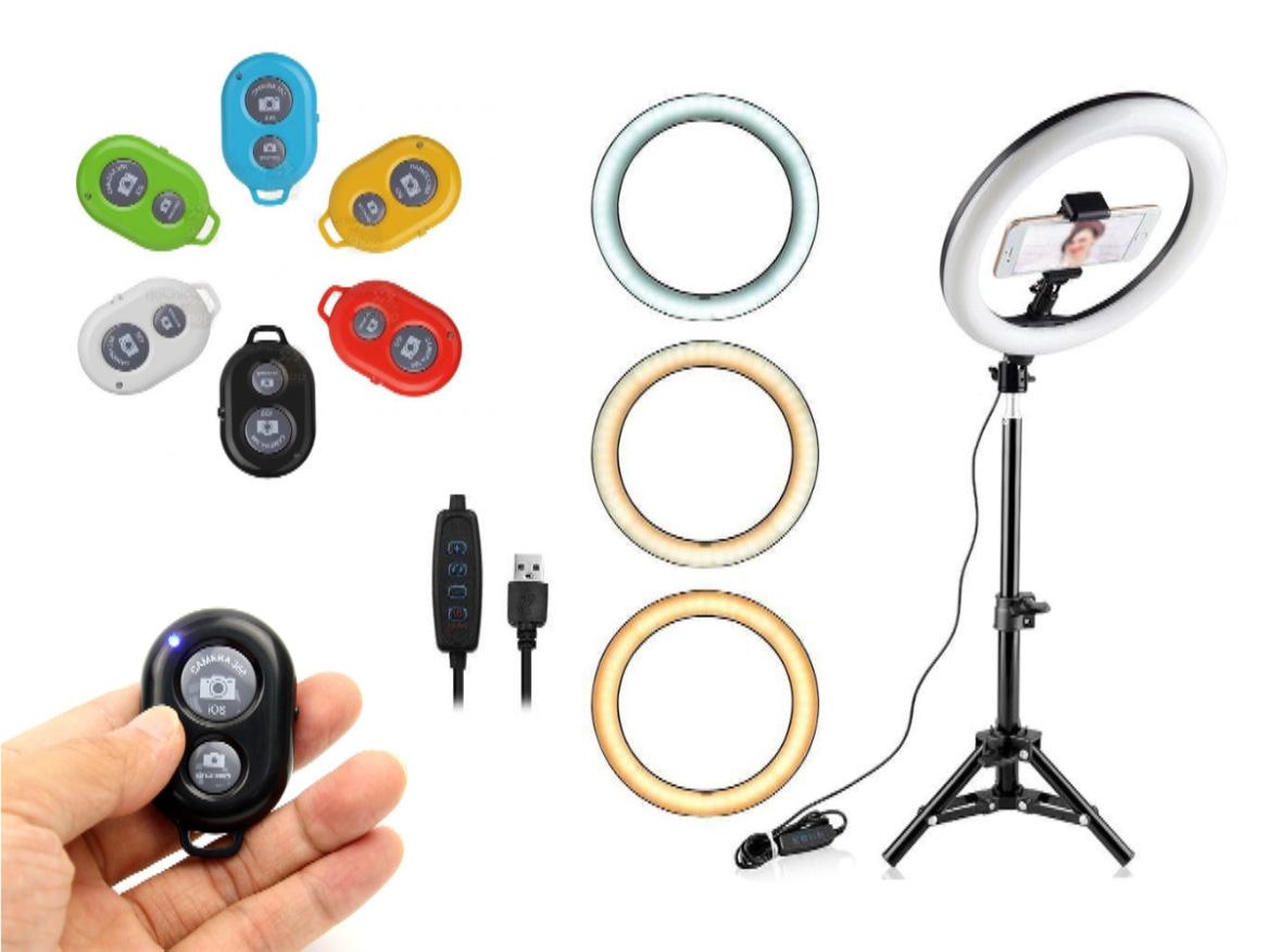 Iluminador Ring Light 26cm Luz Led Selfie Make Profissional