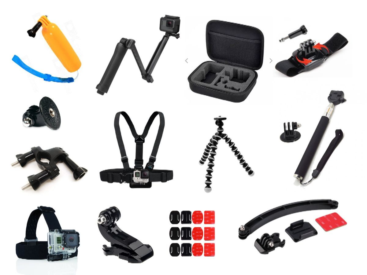Kit de Acessórios GoPro Universal 12 Itens