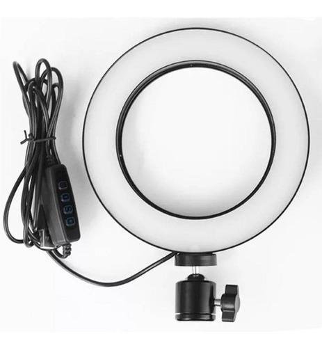 Kit Mini Tripé Flexível + Ring Light Para Celular Universal