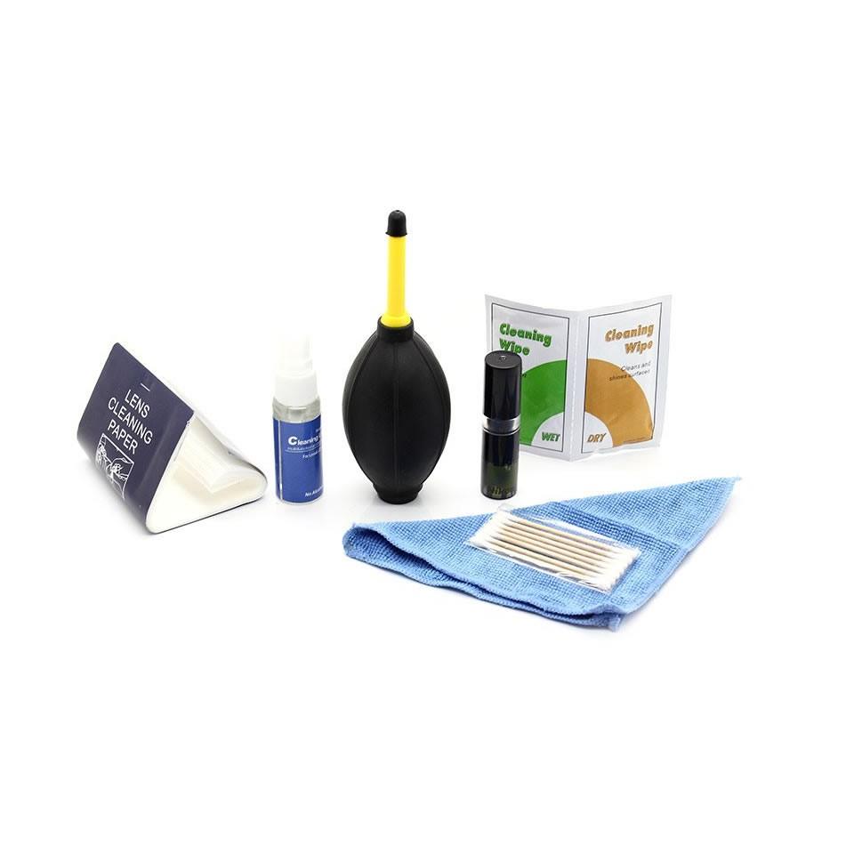 Kit para Limpeza Lentes e Cameras Dslr 7 Em 1 Pincel, Soprador, Pano, e outros itens