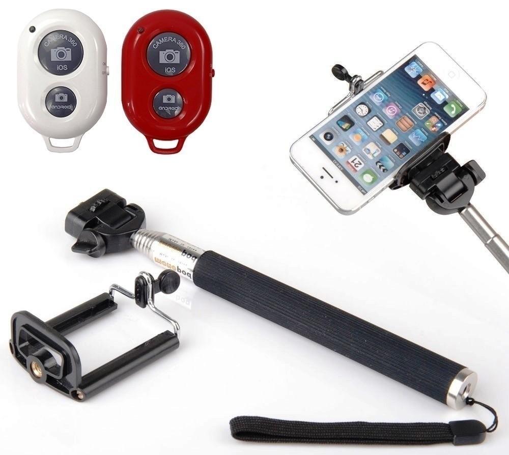 Kit Youtuber 13x1 -Tripé 1,80m + Anel Led + cartão ultra 32GB Sandisk + Fome de ouvido +  Mic Lapela com Adaptador + Extensão 3 Metros para Lapela +  Tripé Flexíve Gekopod +pau selfie + controle