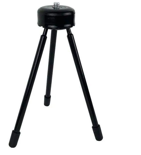Kit Youtuber 5x1 - Mini Tripé + LED + Mic De Lapela + Sup Celular + Cont Bluetooth