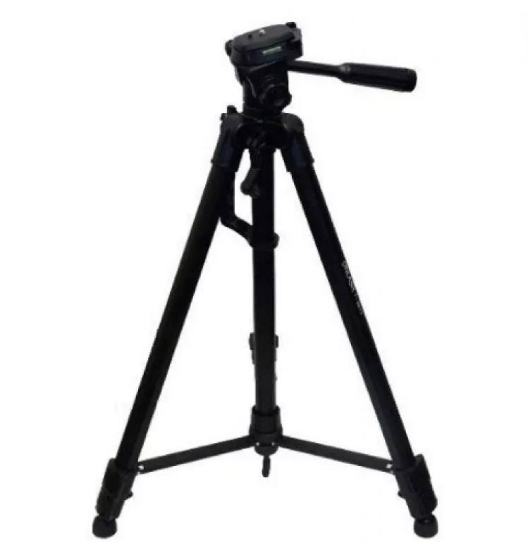 Kit Youtuber 7x1 - Tripé 1,20m +, Bastão Selfie + Suporte Celular + Controle + Microfone de Lapela com Adaptador + Kit de Lentes 3x1 + Flash LED