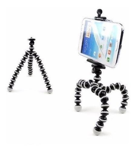 Kit Youtuber 7x1 - Tripé 1,30m + Sup Celular + Microfone Lapela com Adaptador + Ring LED Flash