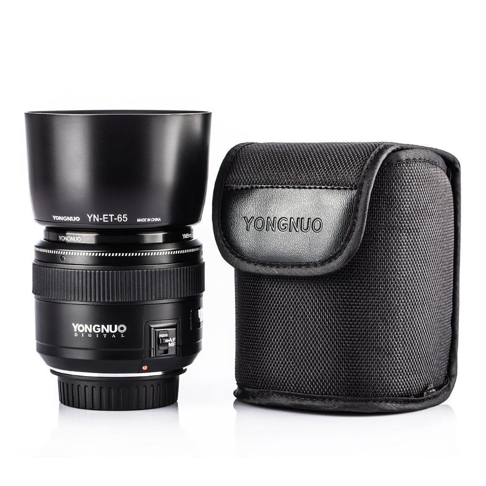 Lente / Objetiva Yongnuo Canon 85mm f/1.8 + parasol e bolsa