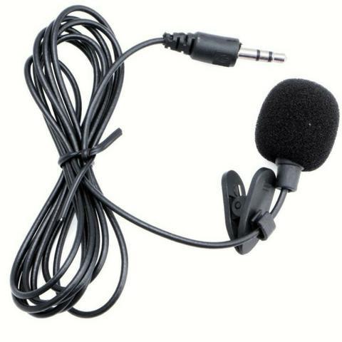 Microfone De Lapela  Para Smartphones Celulares 3.5mm P2 Stereo
