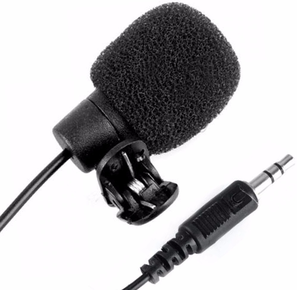 Microfone De Lapela Stereo Com Adaptador Para Smartphones