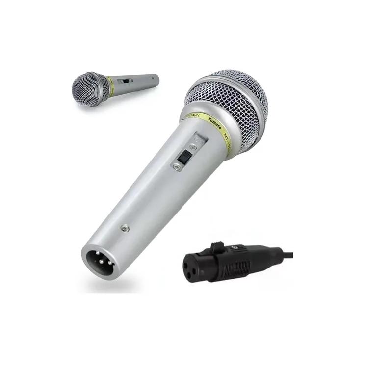 Microfone Dinâmico Profissional Apresentação Com Cabo. MT-1018