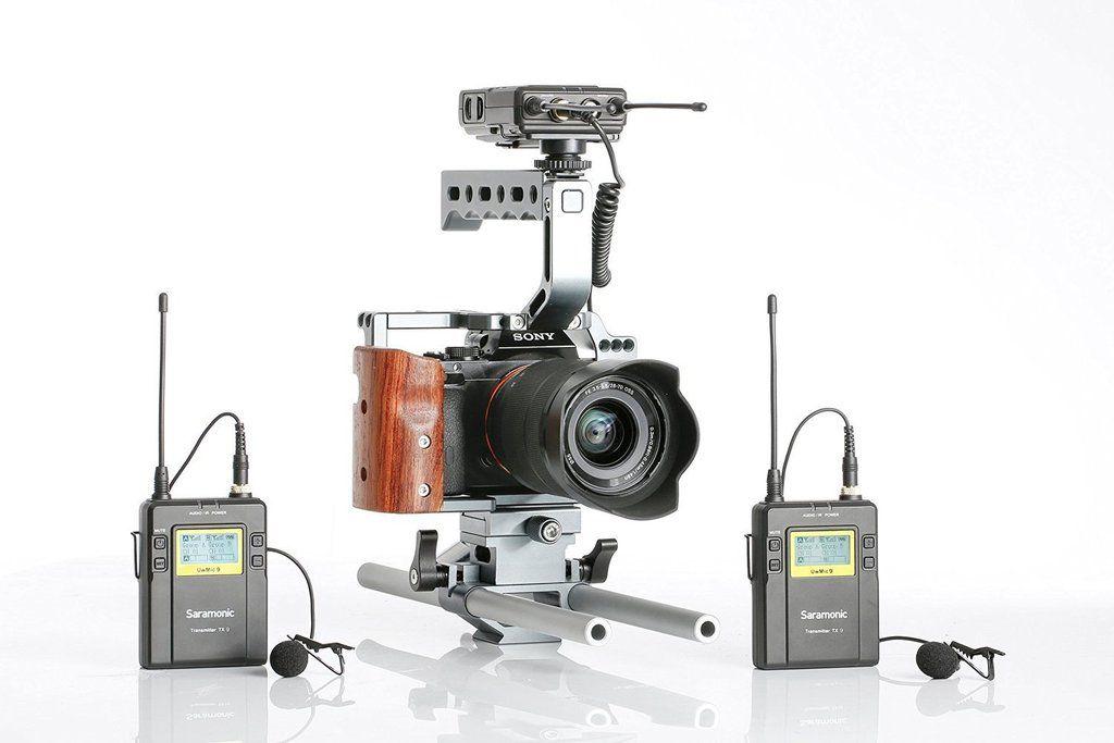 Microfone Lapela Duplo Sem Fio Saramonic TX9+TX9+RX9