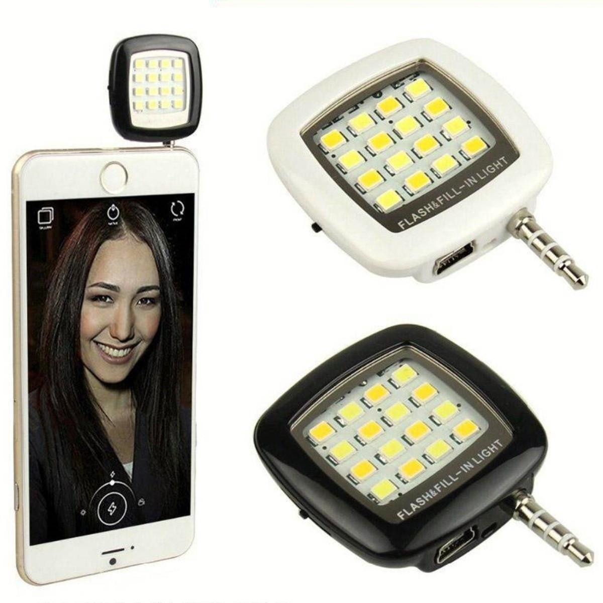Mini Flash 16 LED Para Celular