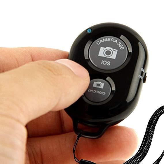 Mini Tripé Alumínio + Suporte Celular +  Controle Bluetooth