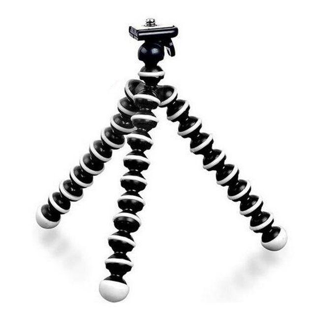 Tripé Flexível + Suporte + Mic Lapela com Adaptador P2