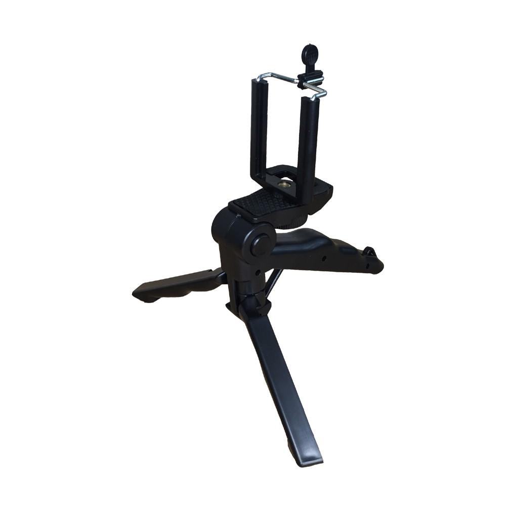Mini Tripé Grip 2 Em 1 Para Câmeras Dslr GoPro, Smartphones e Celulares