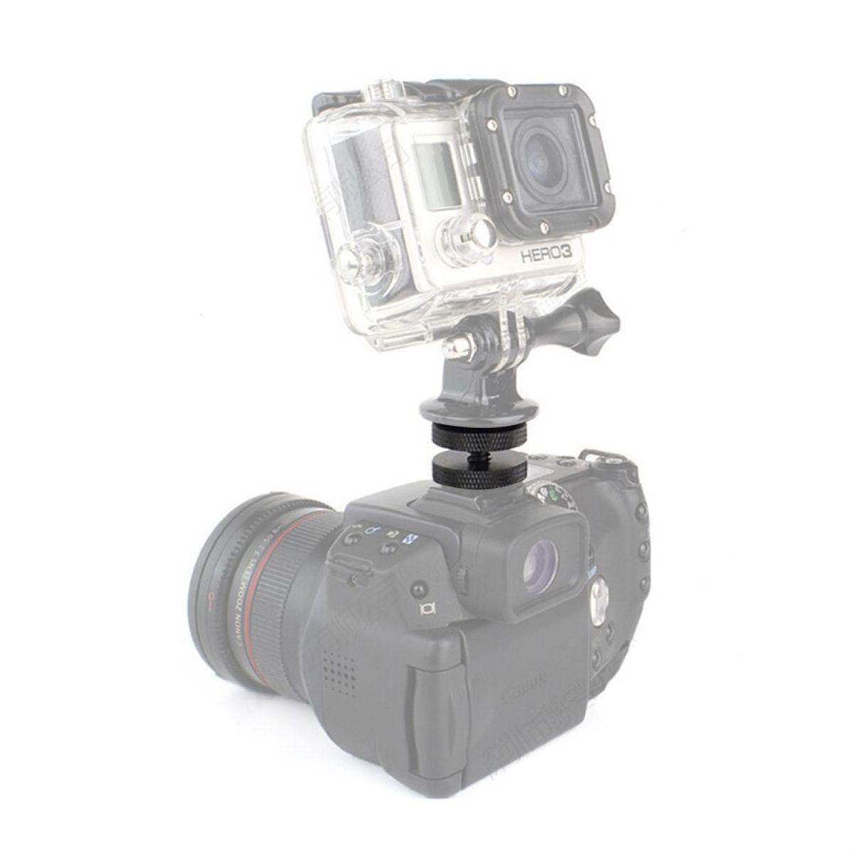 Parafuso Adaptador 1/4 Duplo Para Sapata Montagem Duas Câmeras, GoPro, Led...