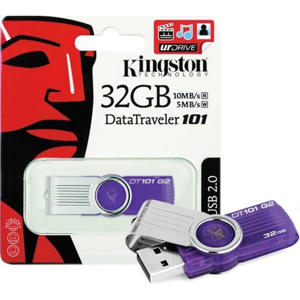 Pen Drive Kingston 32gb Dt 101 Lacrado 100% Original