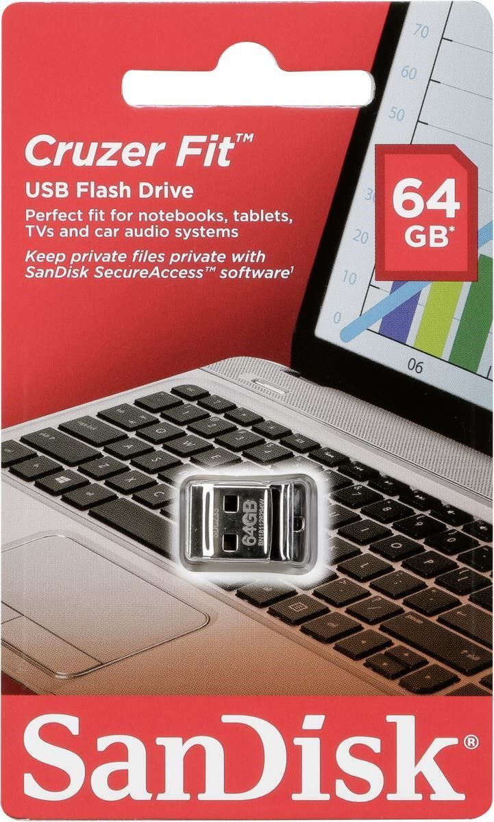 Pen Drive Sandisk Cruzer Fit 64GB