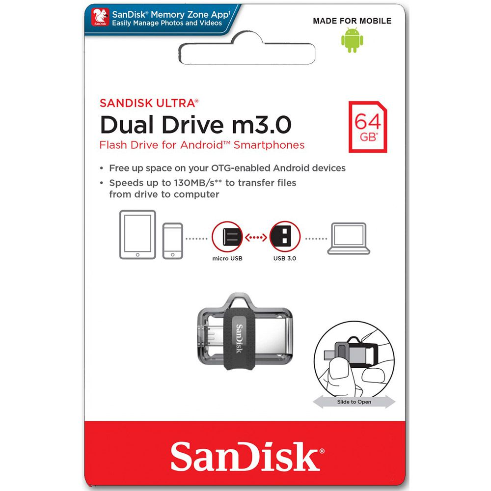 Pendrive Sandisk Ultra Dual 64GB