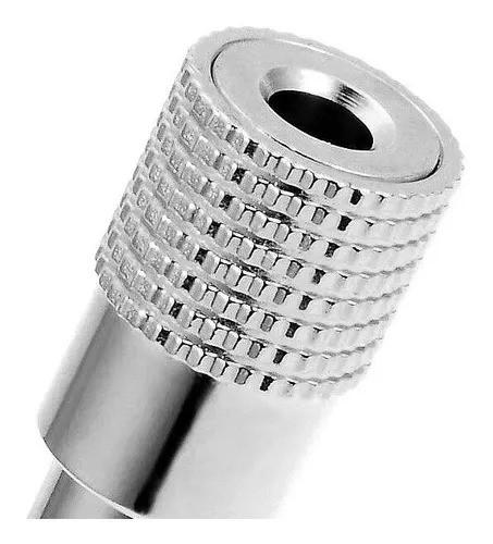 Plug Adaptador P2 Fêmea P10 Macho Stereo Metal Blindado