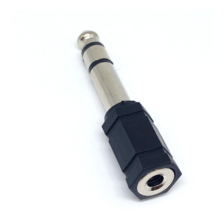 Plug Adaptador P2 Fêmea p/ P10 Macho Stereo