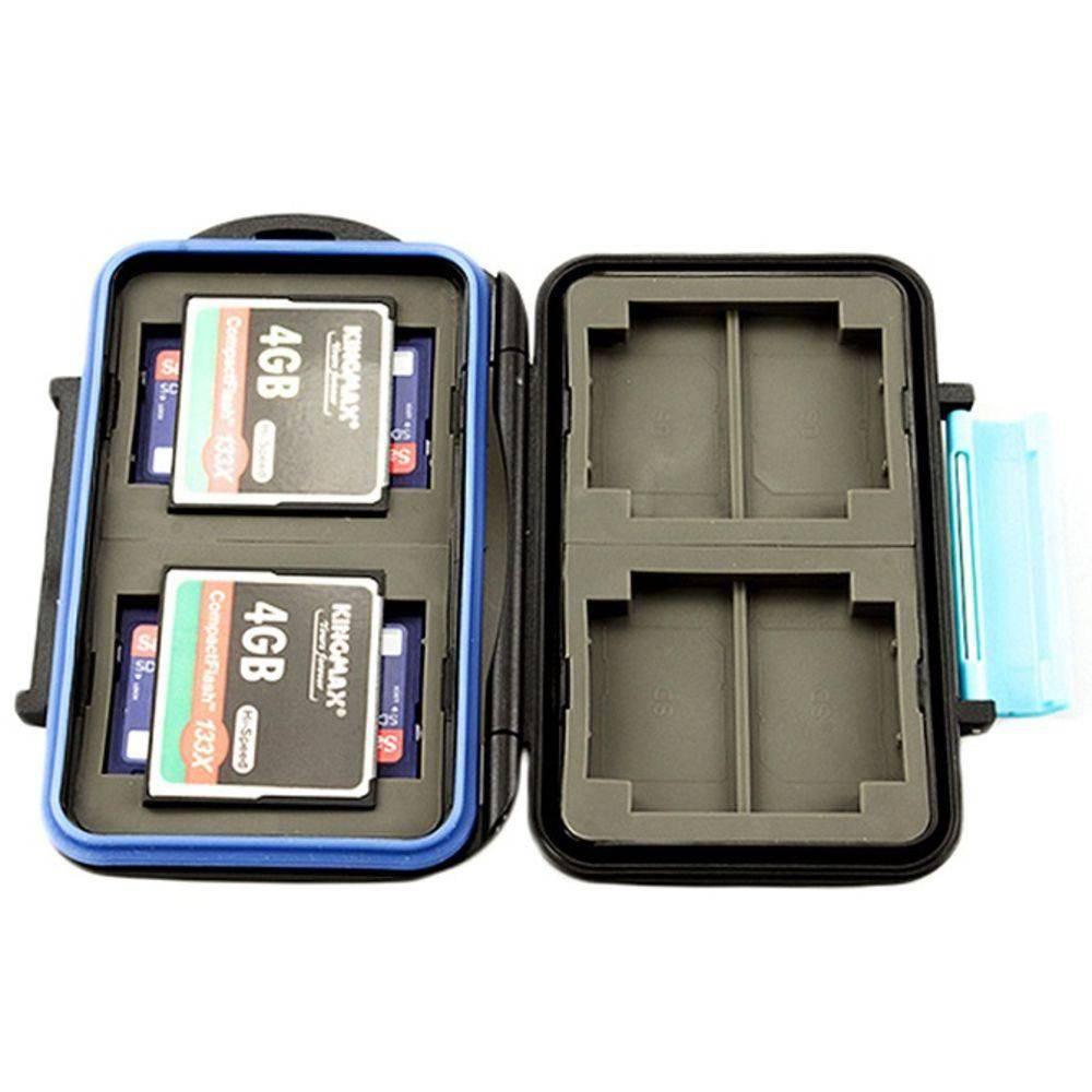 Porta Cartão de Memória Case 8 SD e 4 CF JJC MC-2 em ABS à Prova Dágua