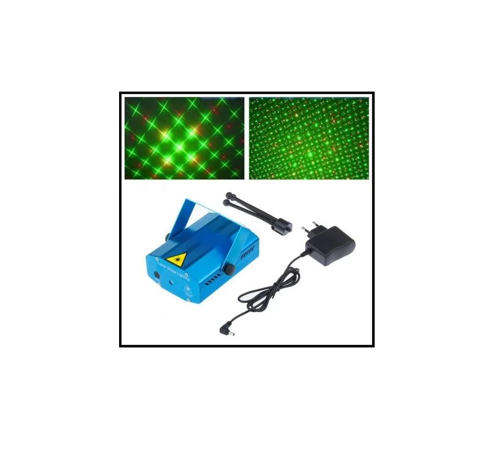 Projetor Canhão Laser Efeitos Strobo Decoração Festas Natal
