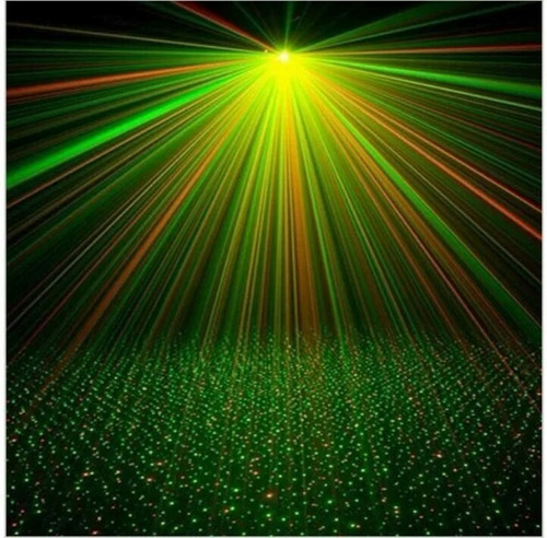 Projetor Canhão Laser Strobo Luz Lampada Giratória Led Festa