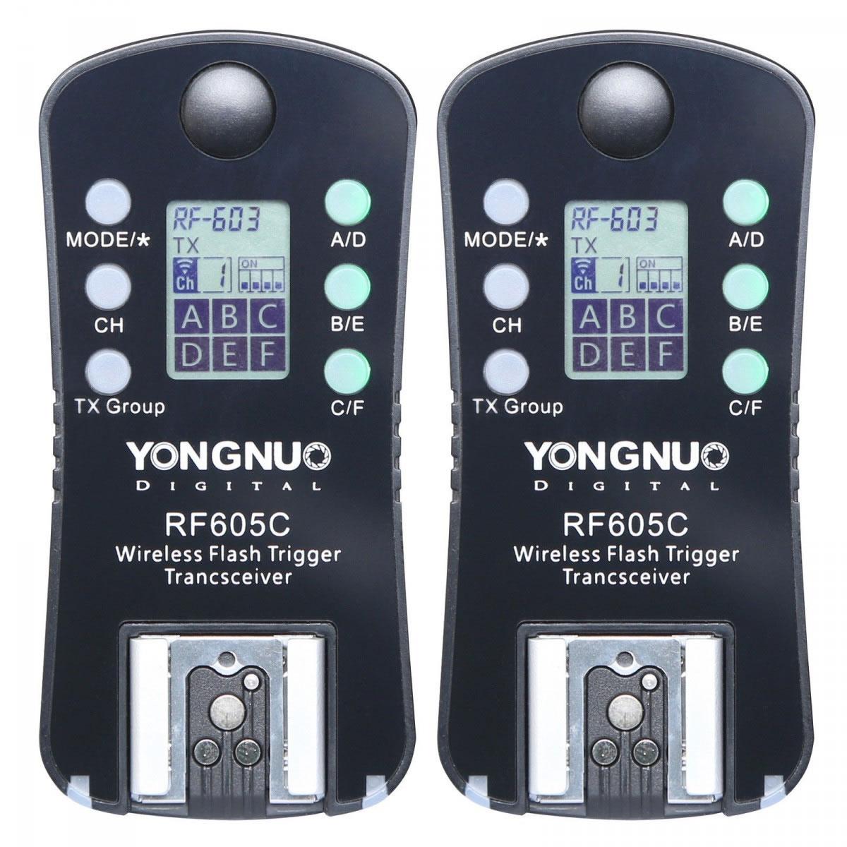 Rádio Flash e Disparador do Obturador Yongnuo RF605C para Canon