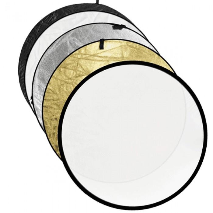 Rebatedor Circular Dobrável Portátil 5 Em 1 Redondo Flexível Escolha o Diâmetro