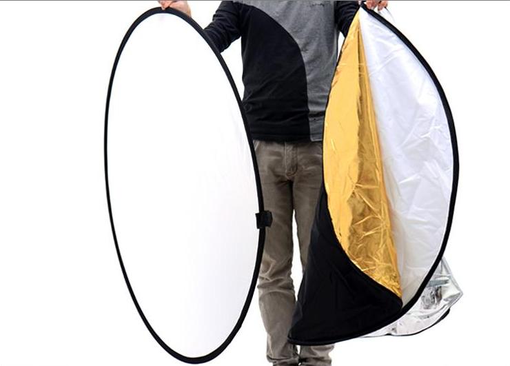 Rebatedor Circular Dobrável Portátil 7 Em 1 Redondo Flexível Escolha o Diâmetro