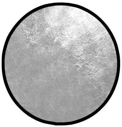 Rebatedor Circular Dobrável Prateado E Branco Ø 1,00m