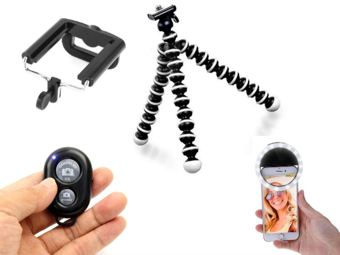 Ring Light Para Celular  Tripe Flexivel Controle Selfie